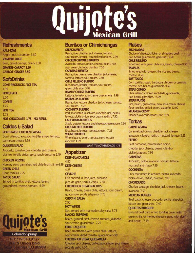 Mexican Inn Cafe Menu Prices