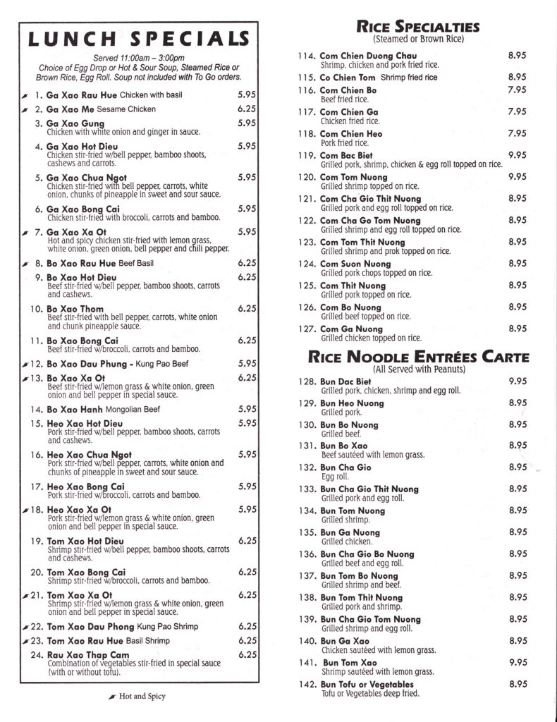 saigon grill menu