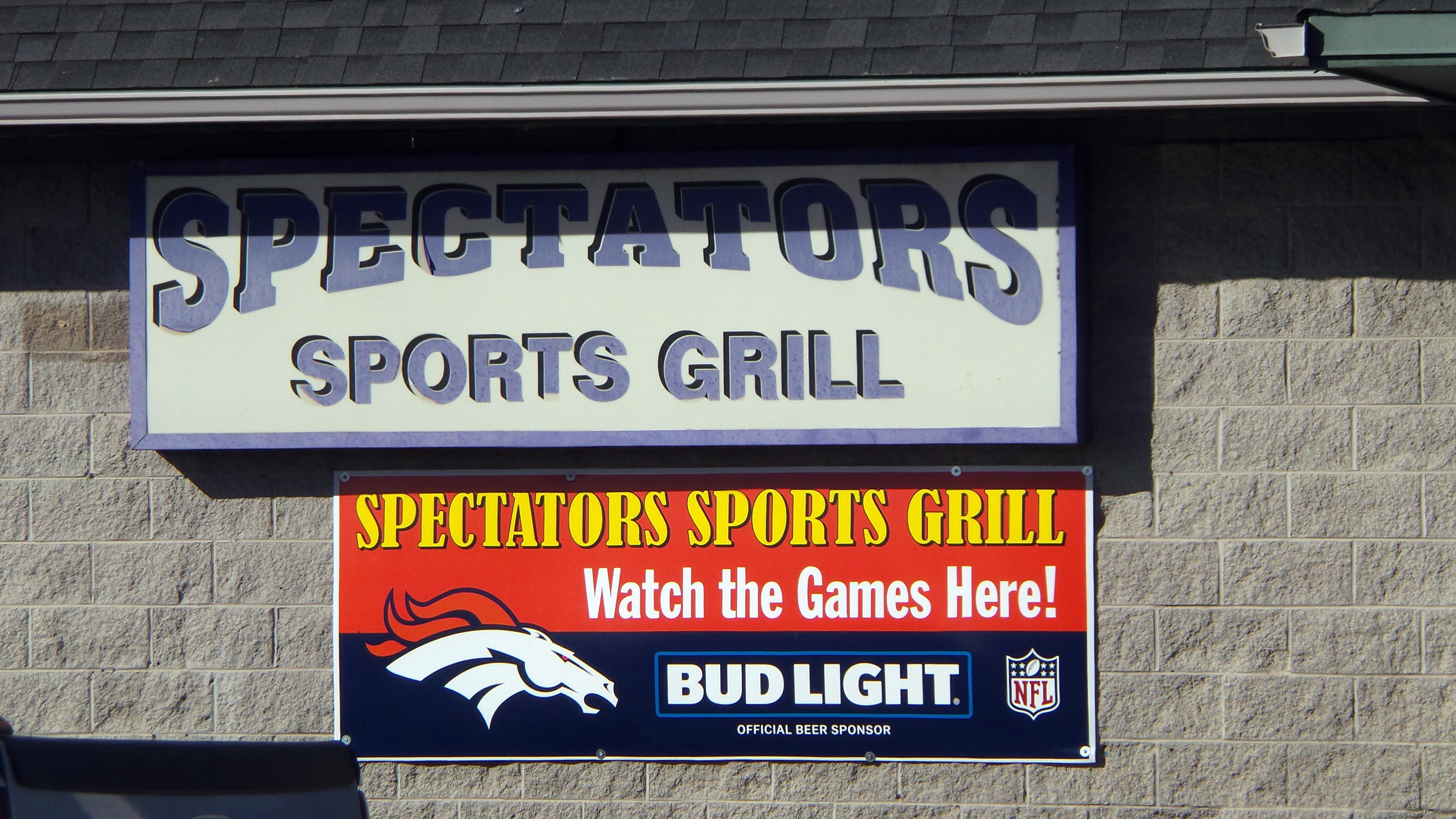 spectators sports grill menu