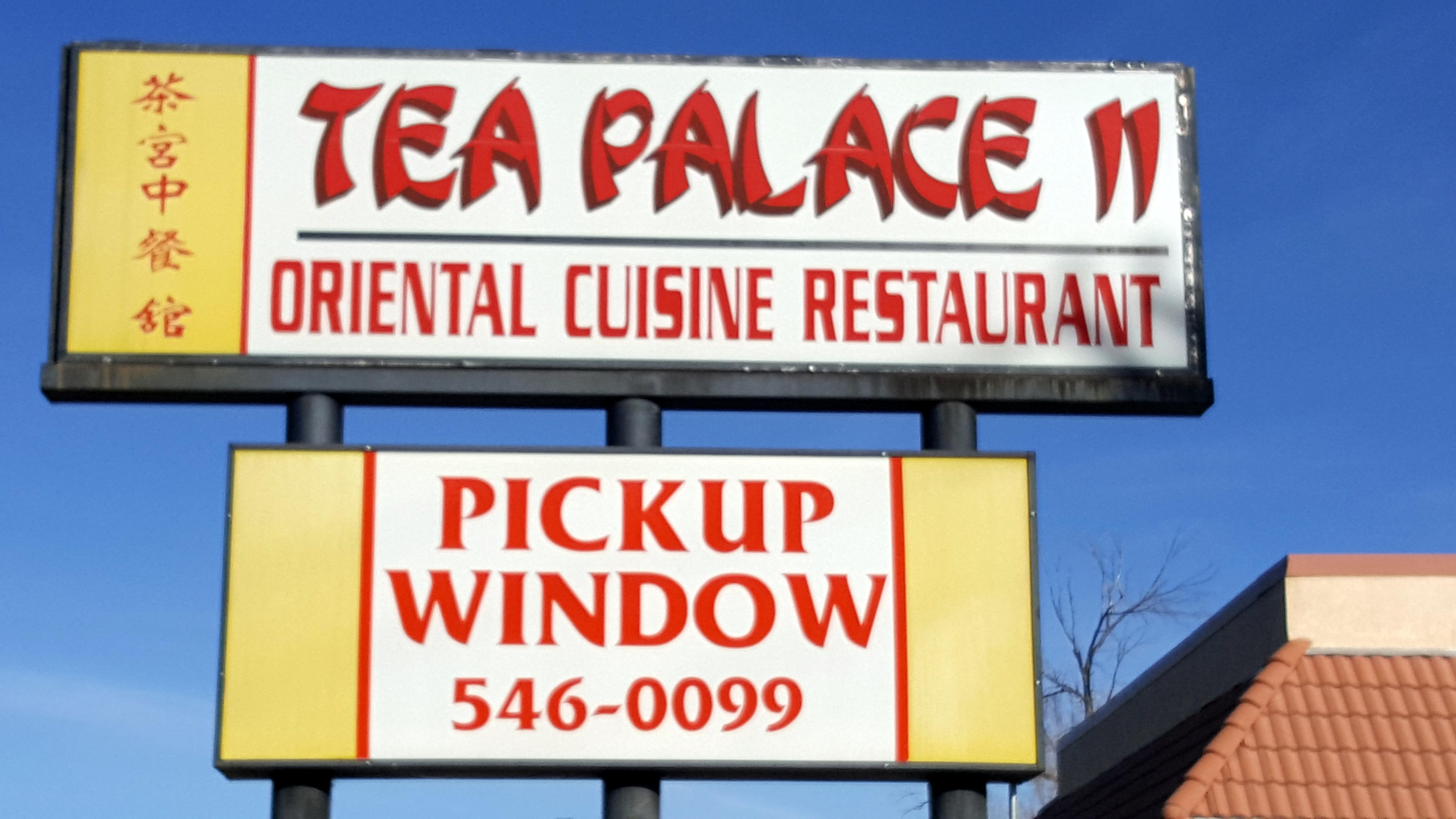 Tea Palace Menu
