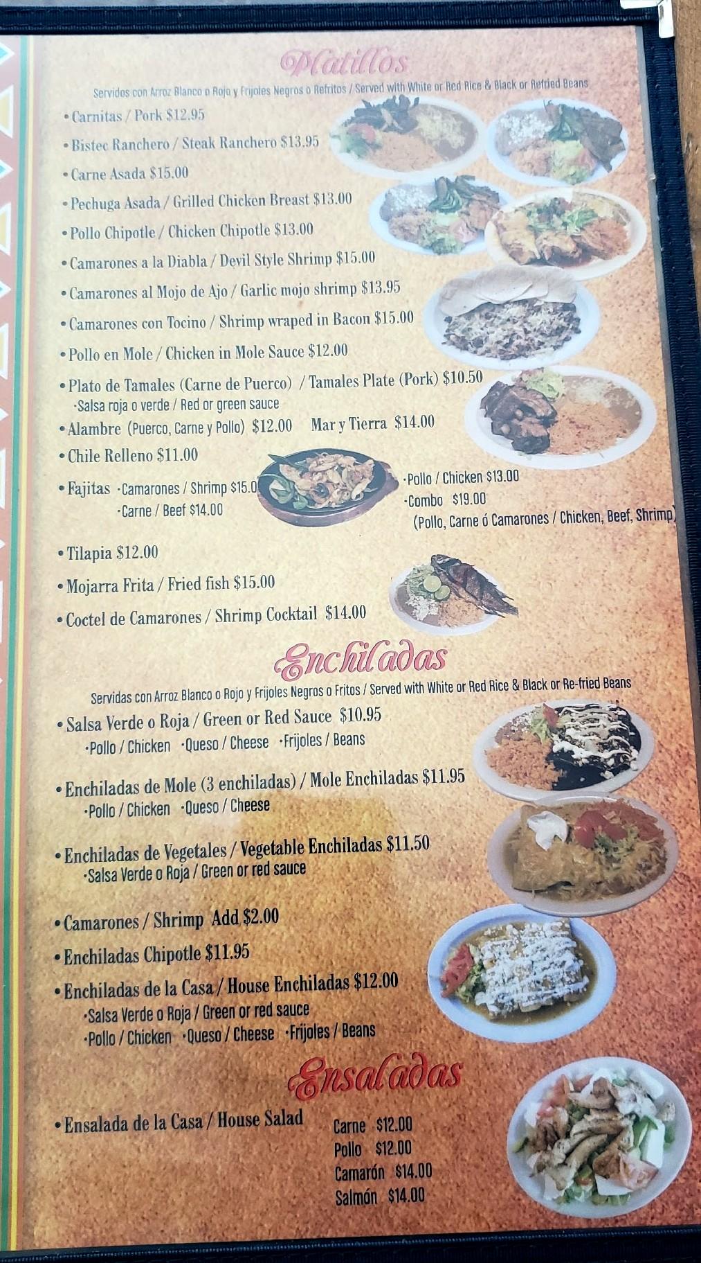 Gardunos Mexican Food Eagle Menu Colorado Menu